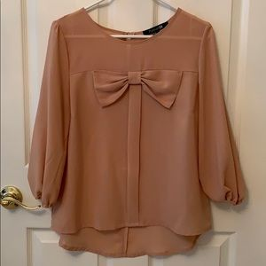 F21 bow blouse